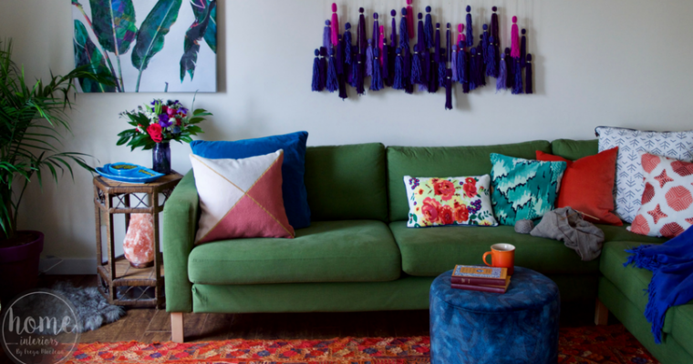 Makeover: Colourful Boho Living Room