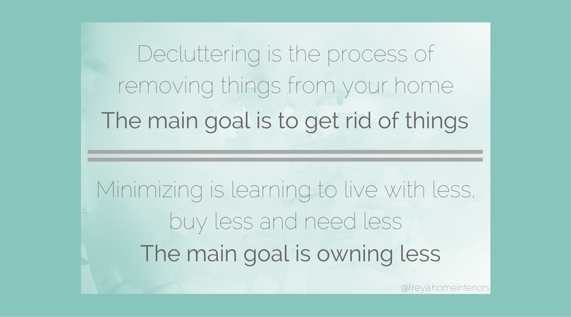 Decluttering vs. Minimizing (Everything you need to know about decluttering)
