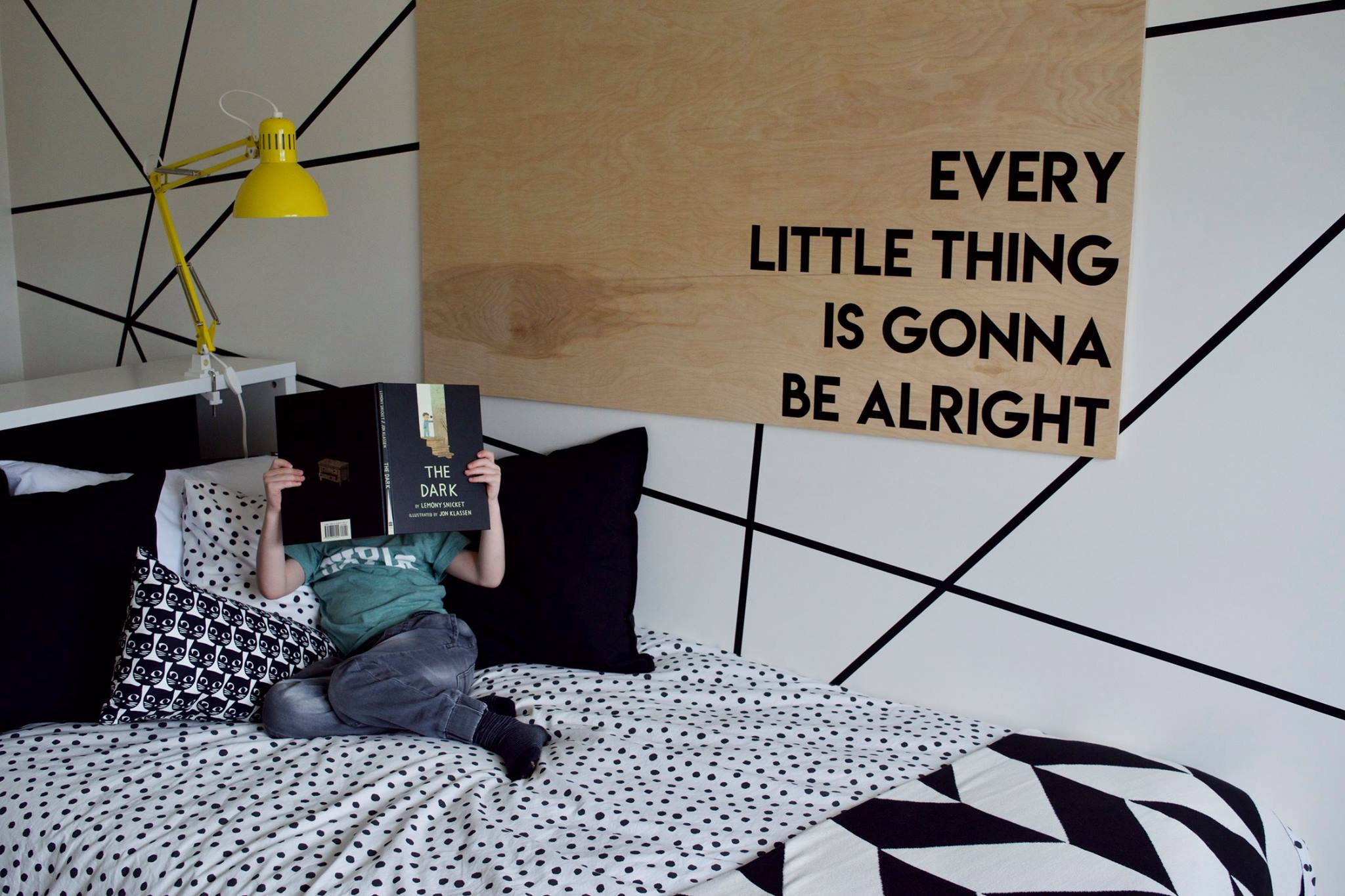 Modern Black andWhite Kid's Room