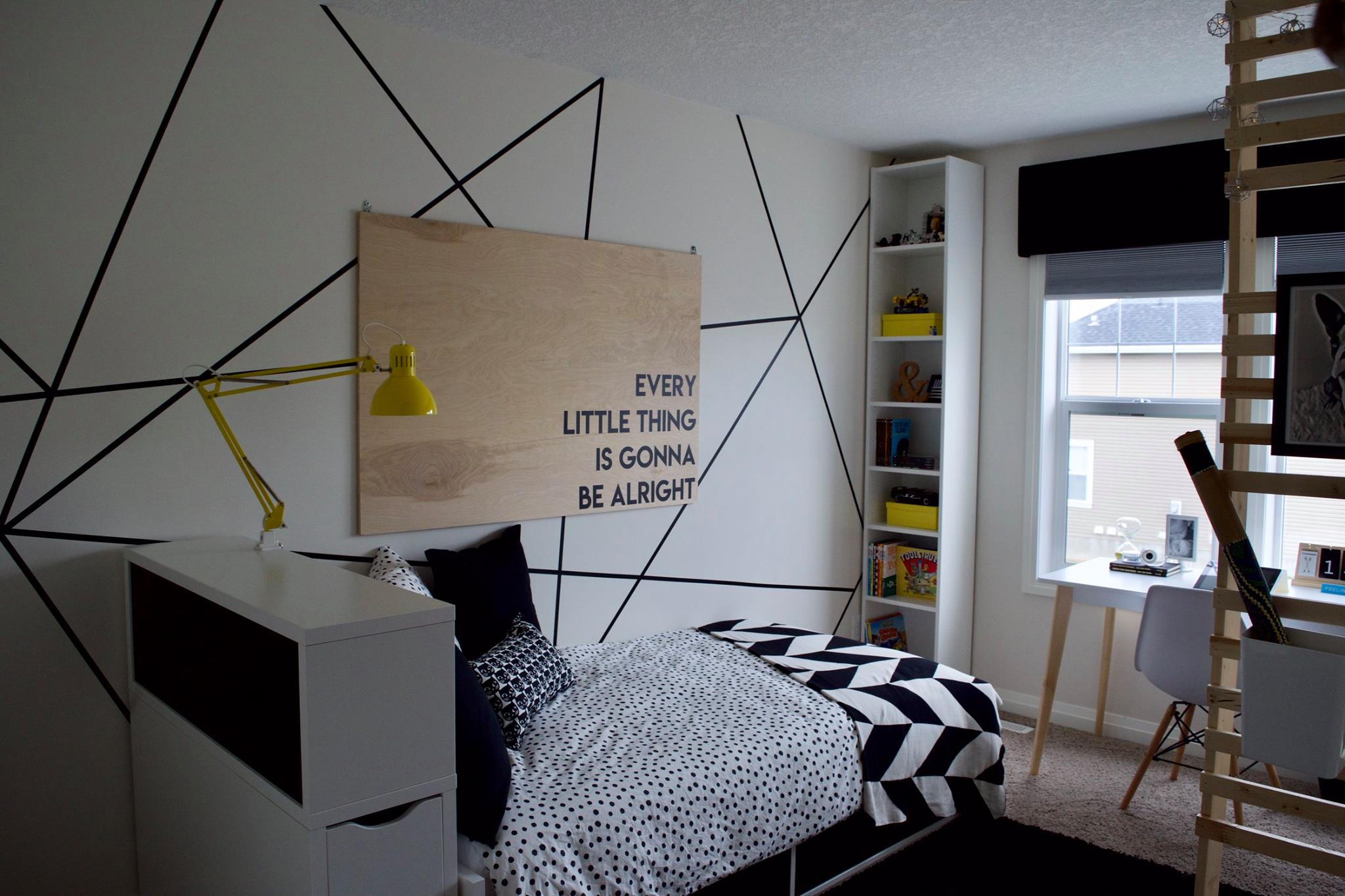Modern Kid's Room – Max's Black + White Birthday Bedroom Makeover