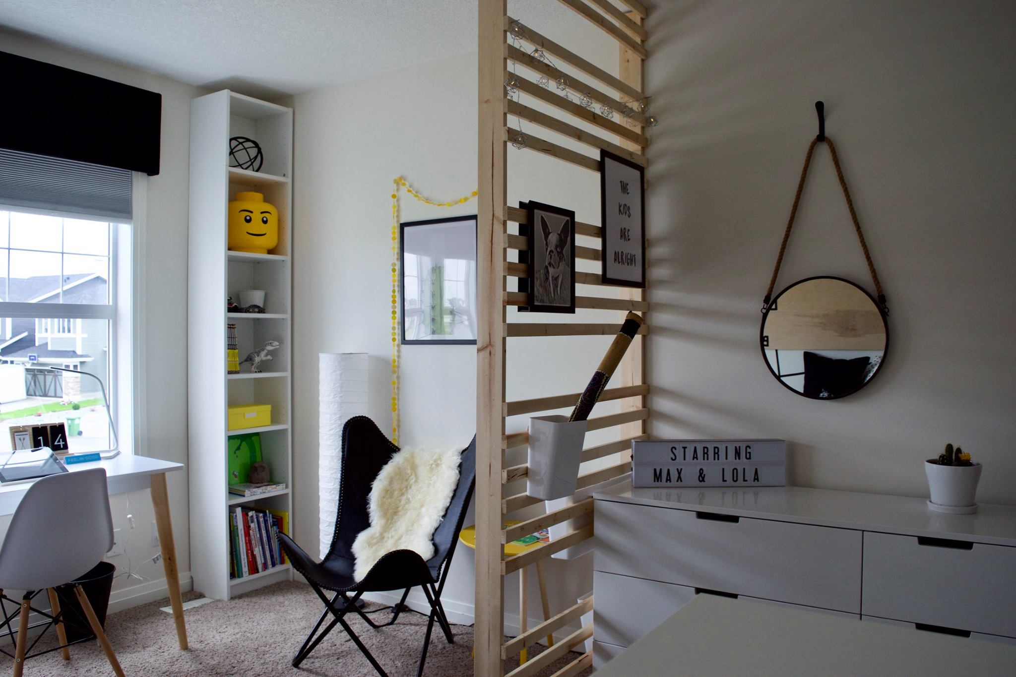 BEFORE + AFTER - Modern Black and White Kid's Room