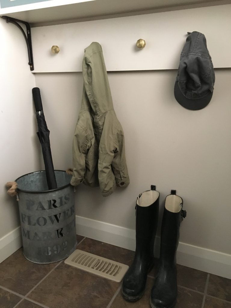 Built In Mudroom Hooks