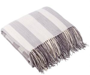 Grey Plaid Throw Blanket