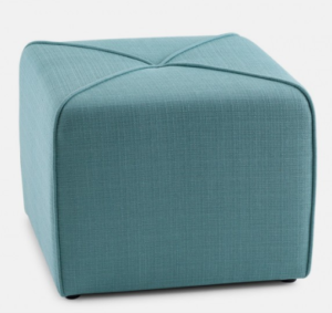 Upholstered Ottoman, Blue