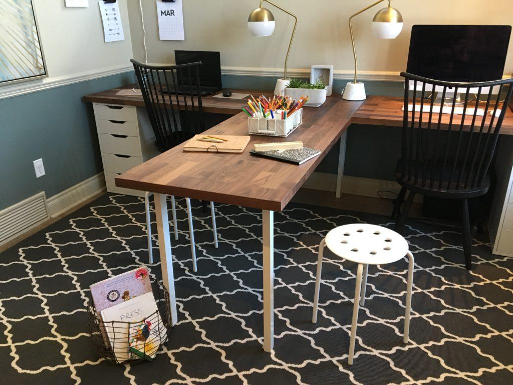 T Shaped Desk, Family Office, Ikea Hack