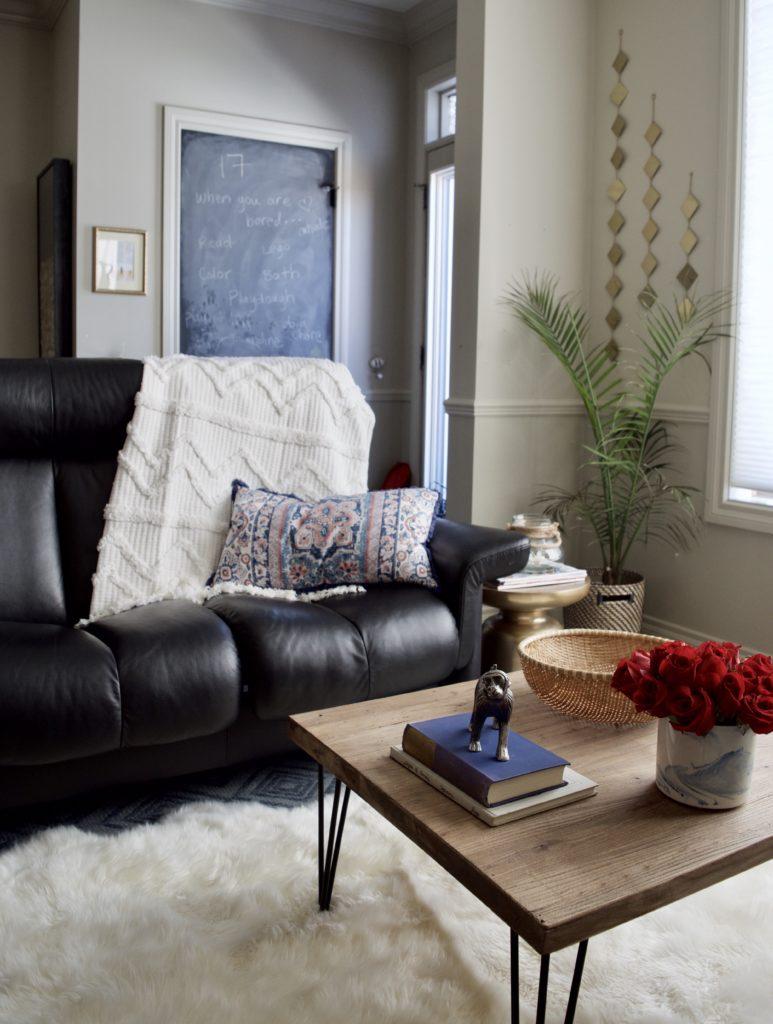 Cozy Minimal Boho Living Room