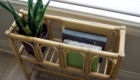 Repurposed Vintage Plant Stand, Wicker, Book Holder