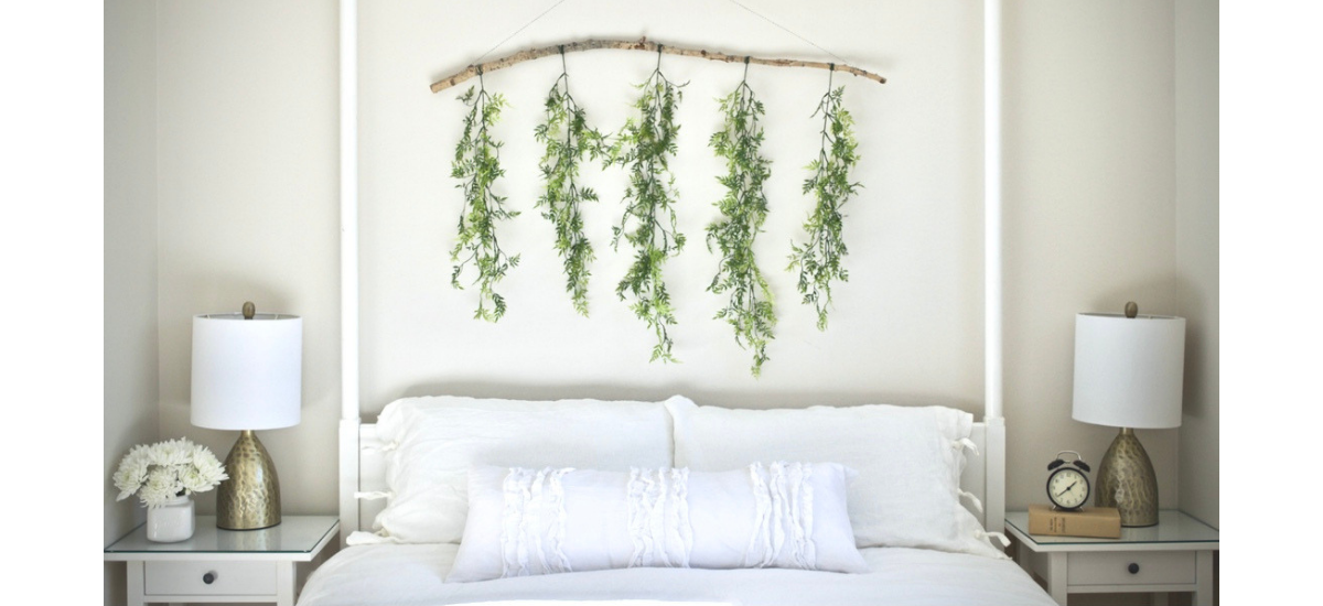 affordable interior design calgary designer white bedroom master grey hanging greenery greens wall decor