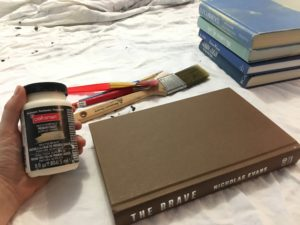 DIY Chalk painted books