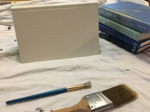 DIY chalk painted books how to