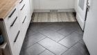 "grey herringbone floor tile gray charcoal ceramic 12x24"" inch 1x2' foot layout"