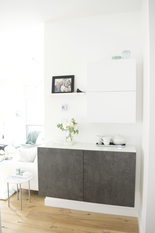 ikea besta hallway cabinet nook small space storage office console table picture ledge combination tea set modern scandinavian glam