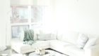 modern scandinavian scandi glam white grey black ivory concrete pillar design swivel chair sectional silver decor living room apartment small space marble table white leather sectional seafoam green pastel soft bright white paint calgary interior designer home by freya maclean pouf ottoman knit