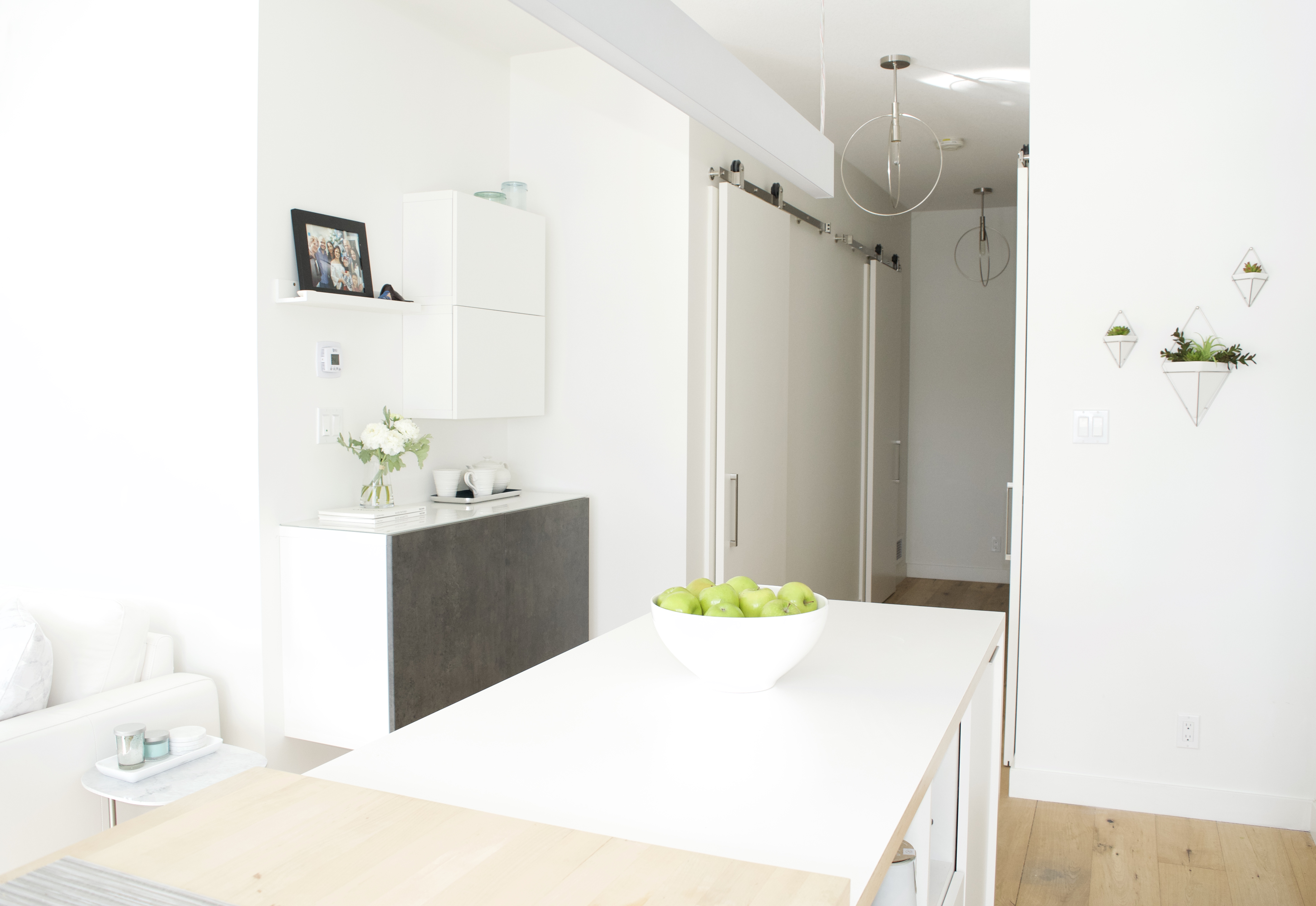 modern scandinavian kitchen best ikea cabinets white grey storage affordable calgary alberta canada interior designer