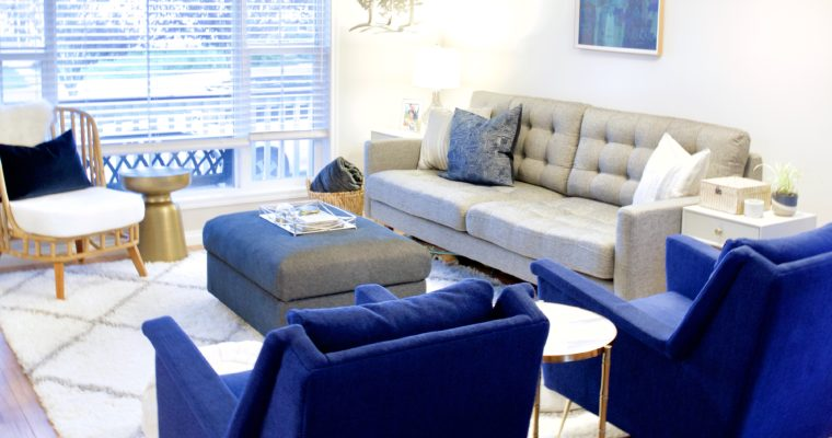 Living Room Makeover:  Family-Friendly Function Meets Grown-Up Style